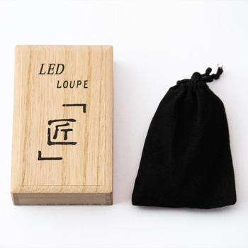蒔絵LEDルーペ(波に鶴)