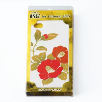 蒔絵for iPhone4/4S専用ケース 白(椿)