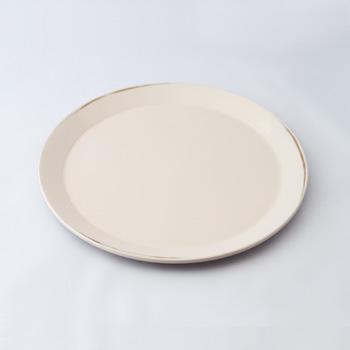 皿盆(変根来-白)