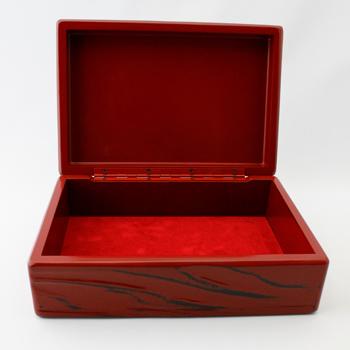 根来塗趣味の小箱(古木風)