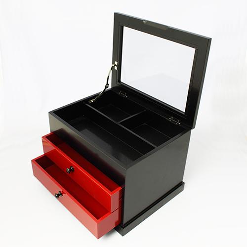 ツートン収納ボックス(黒乾漆)