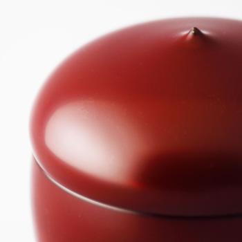蓋付小鉢(銀朱)