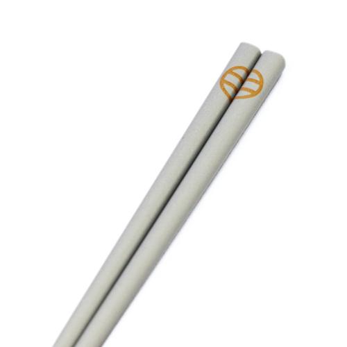 【島安創業100年記念品】島安ロゴ入 箸と箸置のセット ※非売品