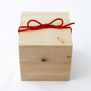Njeco汎紀州備長炭ポット・木箱入(檜)