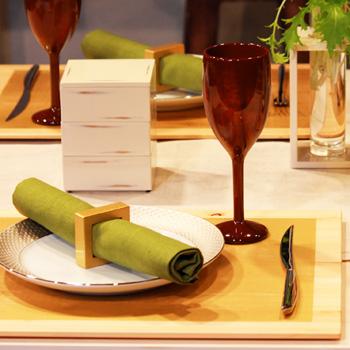 木製ワインカップTall(霞根来-茜)4個セット