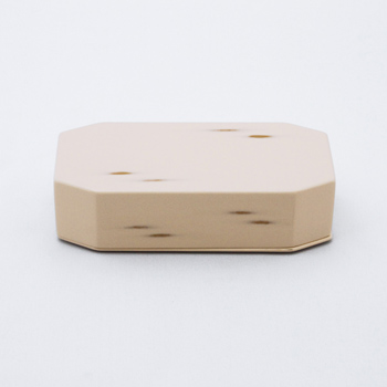 Njeco汎八角二段弁当箱(変根来)