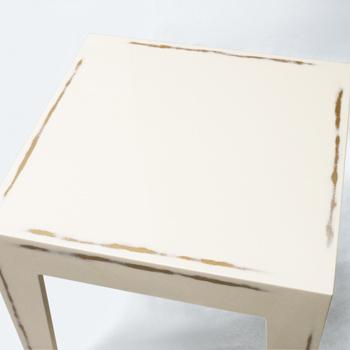 旧型ネストテーブル(変根来-白)