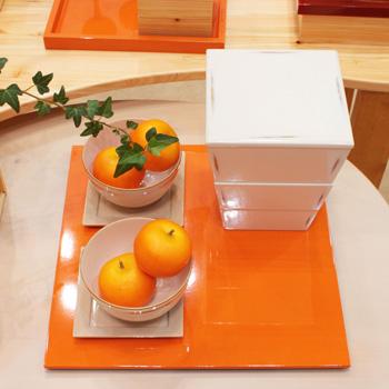 正角折敷(オレンジ)