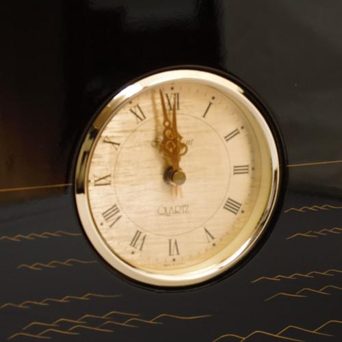 宝船蒔絵屏風時計