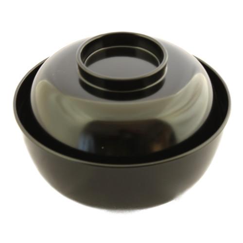 ひも付煮物椀(黒)