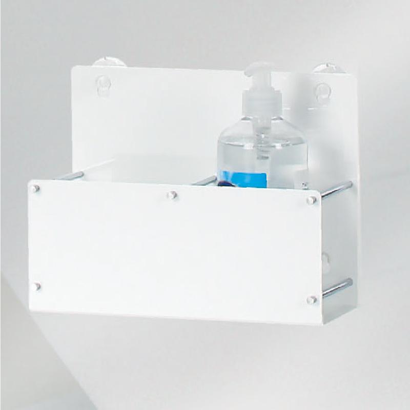 ZF-ボトルラック2個用-70<br>消毒液ボトルラック<br>店頭販促グッズ