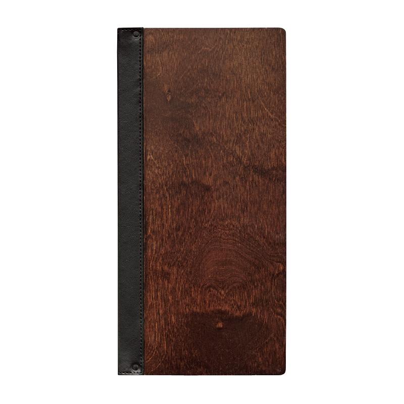 スリムB-SH0-103<br>(A4縦長 8ページ仕様 10枚20ページまで増減可)<br>木製メニューブック