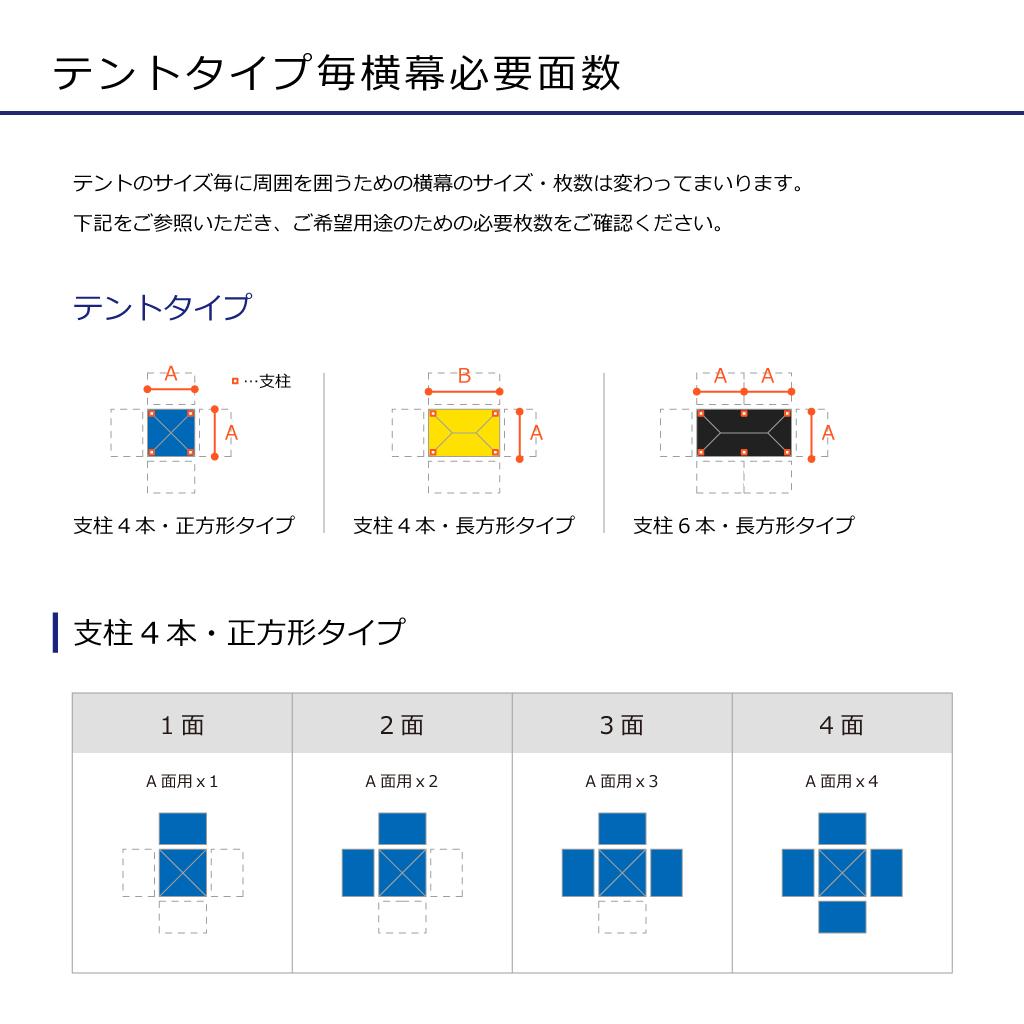 クイックルーフシリーズ用簡易横幕3.0m