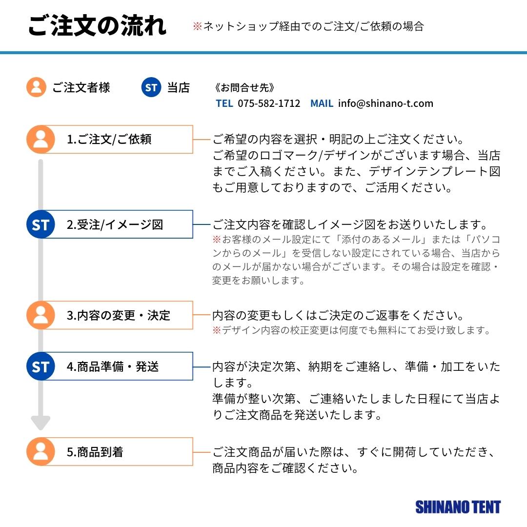 クイックルーフシリーズ用軽量横幕フルデザインタイプ3.0m