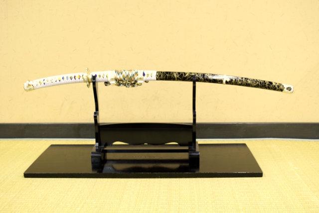 模造刀 陣太刀 金雲鞘太刀拵え-模造刀仕様- 鑑賞用美術刀剣証明書付き