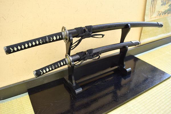模造刀-剣豪 宮本武蔵二刀流 海鼠鍔 大小セット