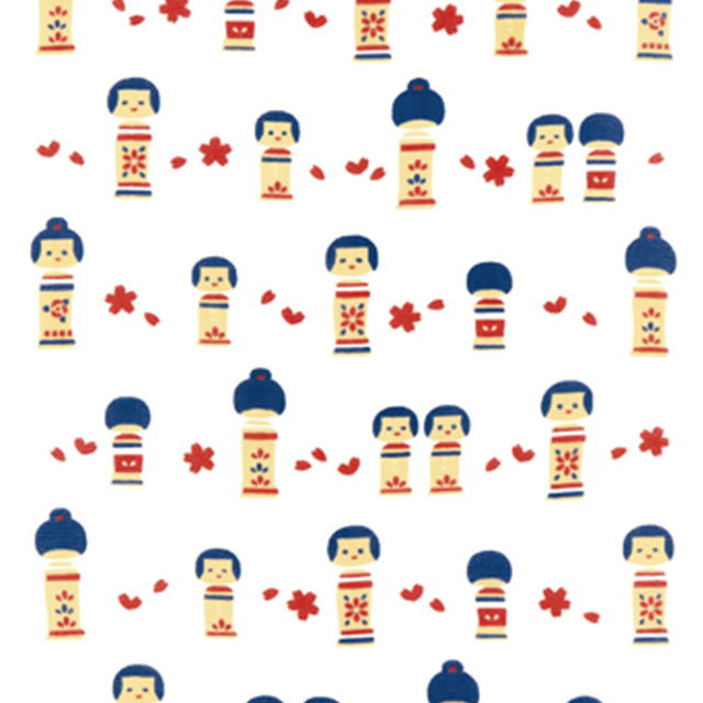ミヤコレ 縁福-えんぷく-タオル 『こけし -健やかな成長- 』 縁福 泉州日本製 泉州タオルこけし-健やかな成長-