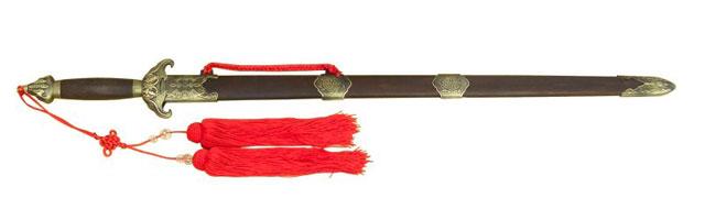模造刀-美術刀 尾形刀剣 唐人剣 蝙蝠剣 鑑賞用美術刀剣証明書付き