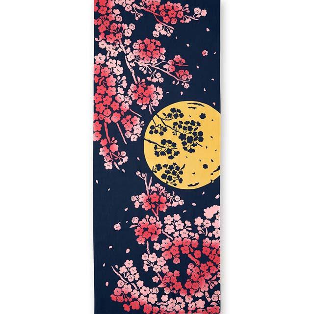 kenema 注染手拭い 『月夜桜』 さくら [ネコポス配送] kenema-50070