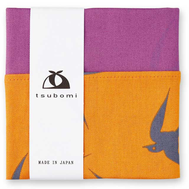 tsubomi小風呂敷 『ツバメ 橙』