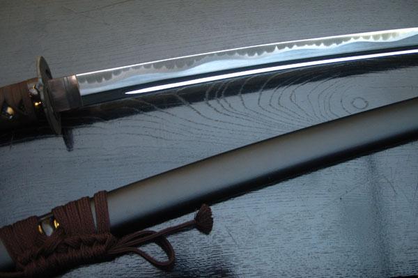 高級居合刀 宮本武蔵愛刀 二天鯰拵-大原真守- しのびや特製刀剣証明書・クリーニングクロス・刀袋セット