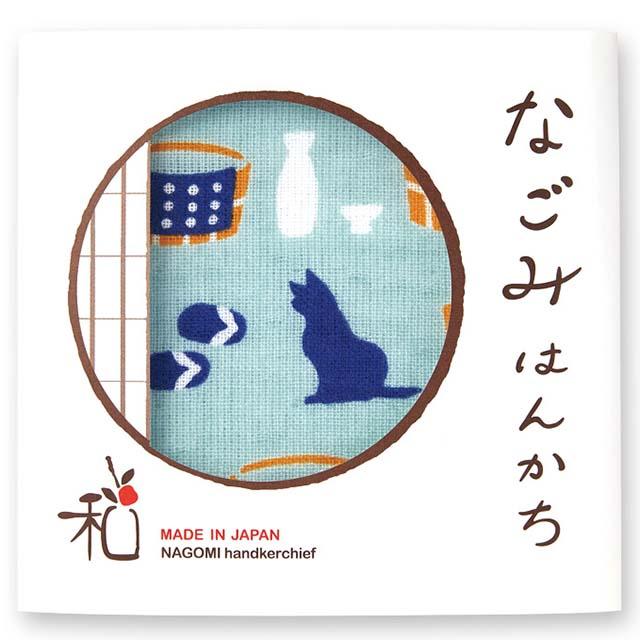 なごみはんかち 『温泉と猫』
