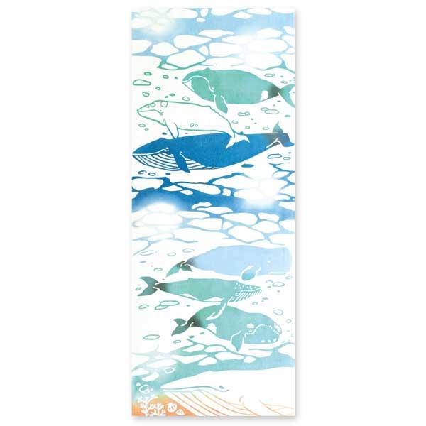 kenema 注染手拭い クジラ 生き物 kenema-53316