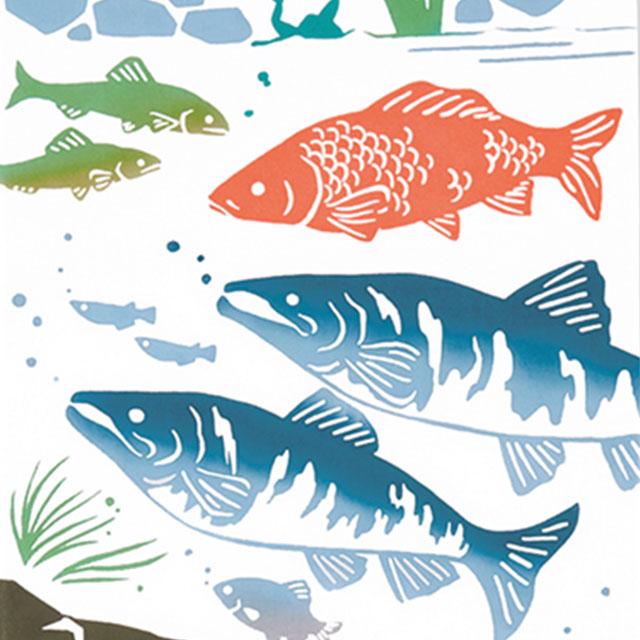 kenema 注染手拭い 深海魚 生き物 [ネコポス配送] kenema-50132