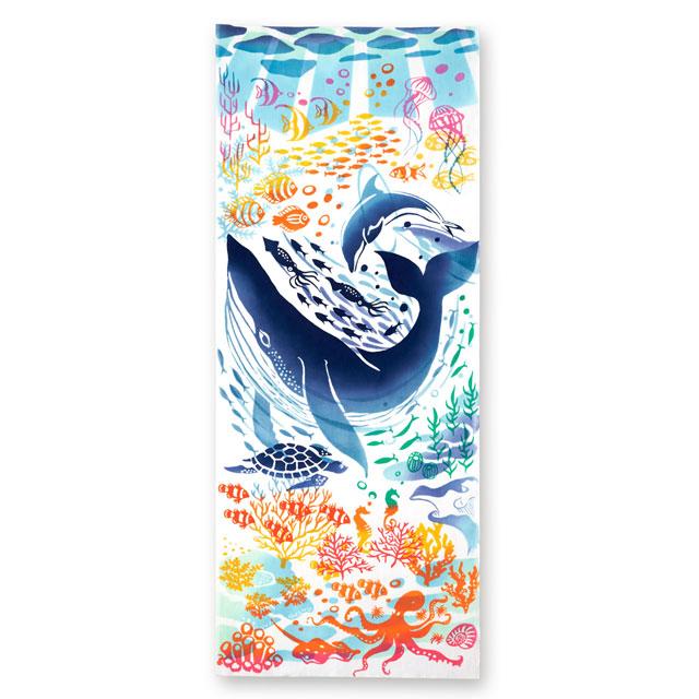 kenema 注染手拭い 『夏海フェスティバル』 夏の風物詩 kenema-50075
