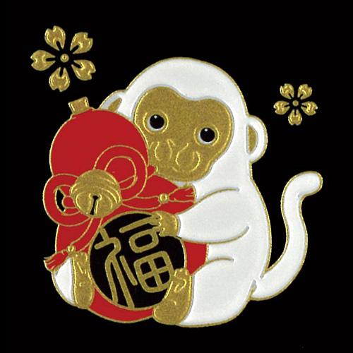 蒔絵シール 転写シール -招福十二支蒔絵 申(さる)  ETO-09