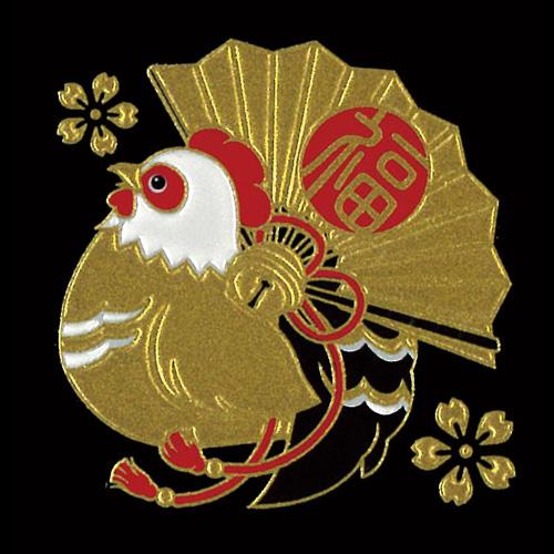 蒔絵シール 転写シール -招福十二支蒔絵 酉(とり)  ETO-10