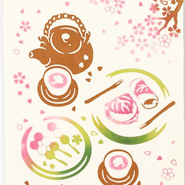 kenema 注染手拭い 『 春風のお花見 』 さくら [ネコポス配送] kenema-50105