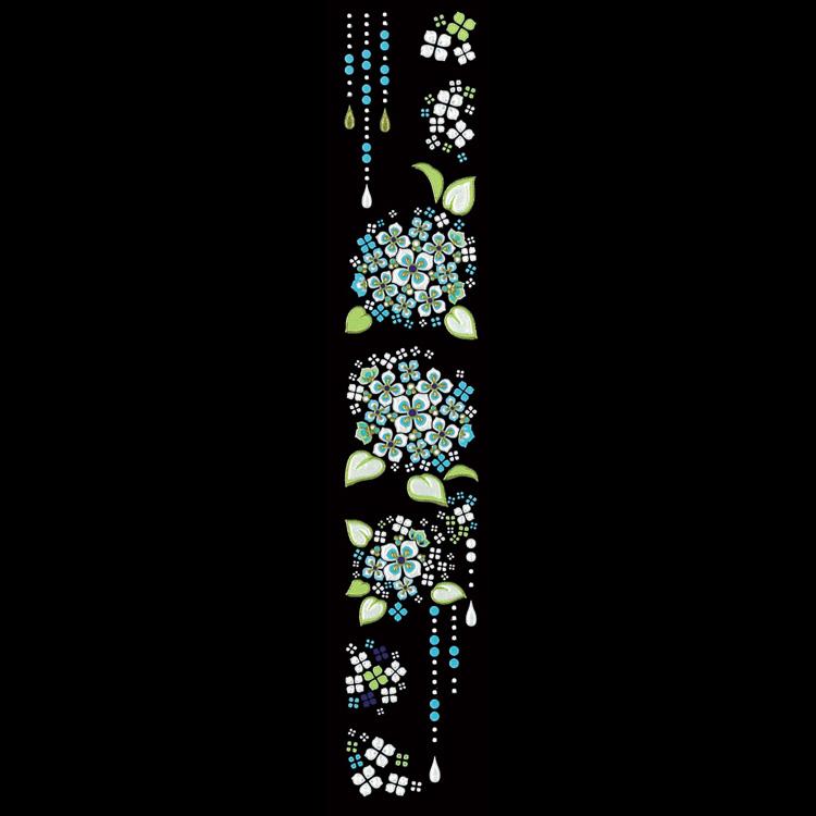 蒔絵シール-転写シール 舞妓はんの華かんざし 6月(紫陽花) MAIKO-06
