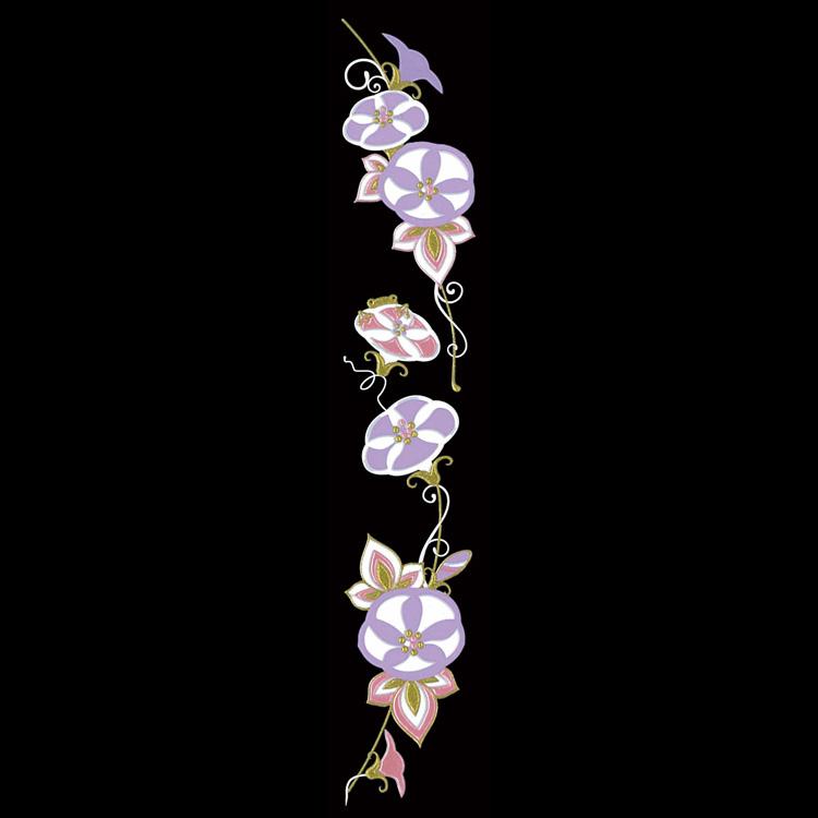 蒔絵シール-転写シール 舞妓はんの華かんざし 8月(朝顔) MAIKO-08