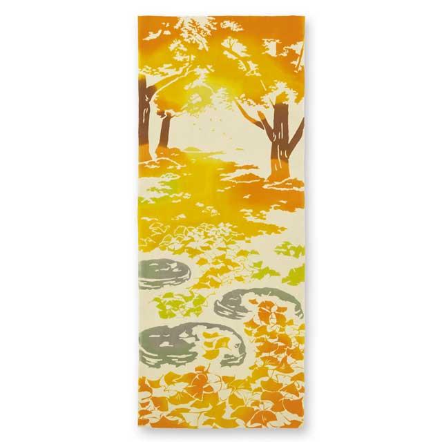 kenema 注染手拭い『銀杏の絨毯』 花圃 [ネコポス配送] kenema-50090