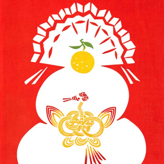 kenema 注染手拭い『祝い鏡餅』 お正月 kenema-50095