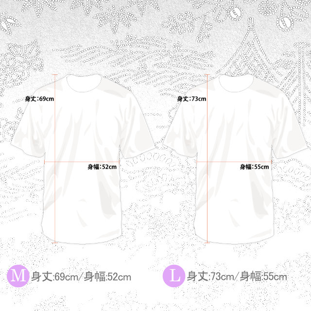KWBTシャツ/百花繚乱 Hyakka-Ryouran 漢字