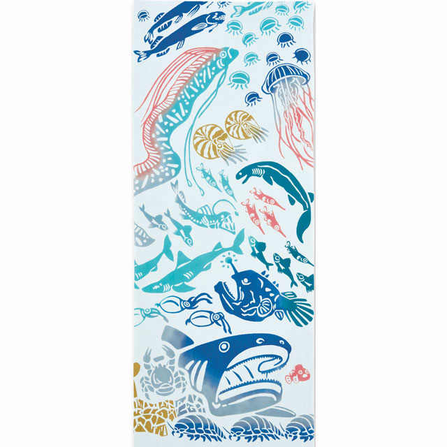 kenema 注染手拭い 深海魚 生き物 kenema-50050
