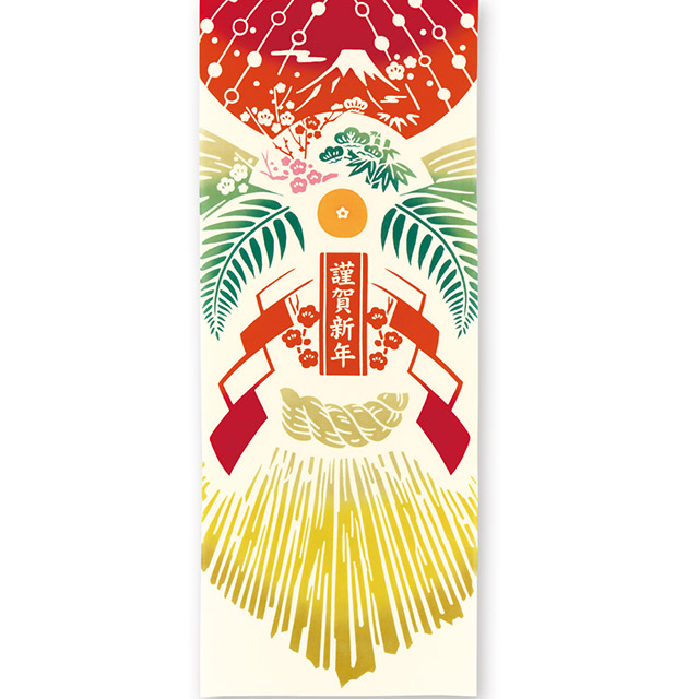 kenema 注染手拭い しめ縄飾り  お正月