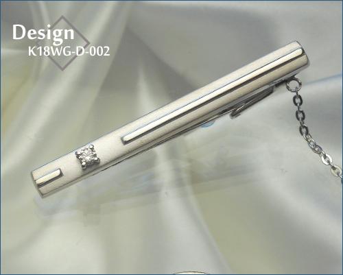 K18WG-D-002ネクタイピン