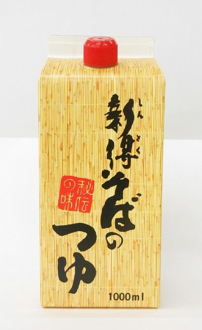 新得そばのつゆ(濃縮)  1,000ml×6本入