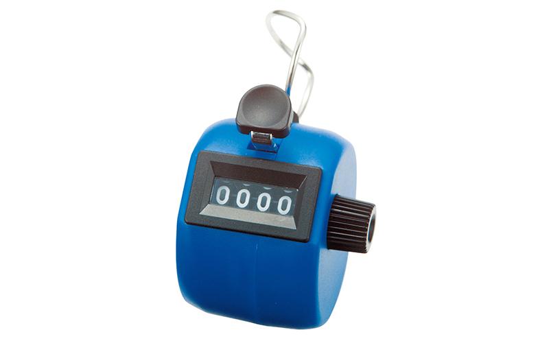 数取器  C  プラスチック製  手持型  ブルー