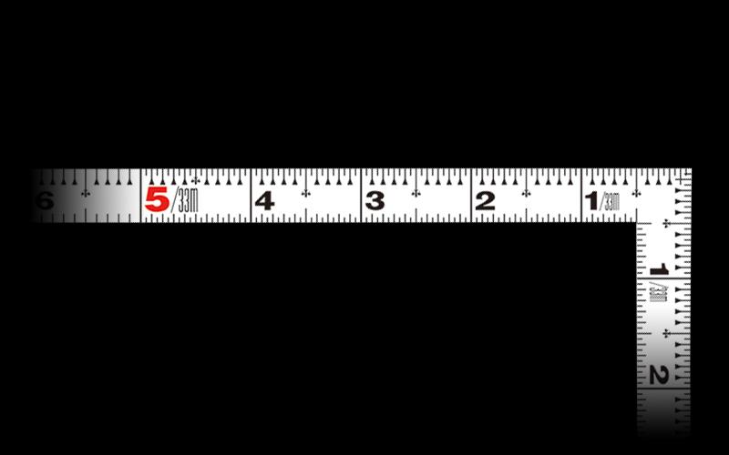 曲尺平ぴた  ホワイト  1尺6寸表裏同目