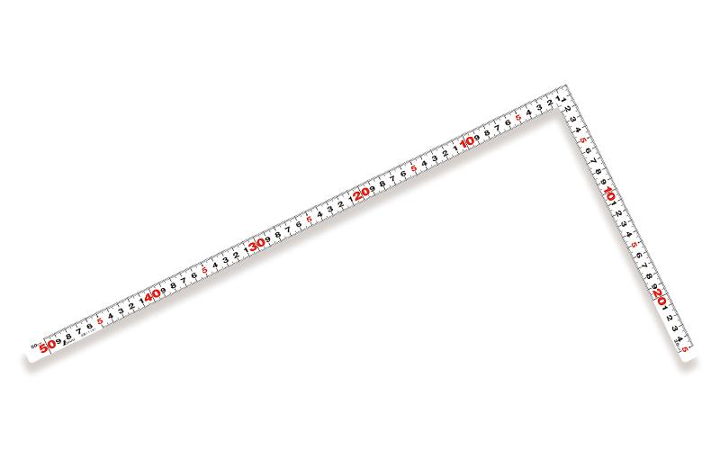曲尺平ぴた  ホワイト  50�/1尺5寸  併用目盛