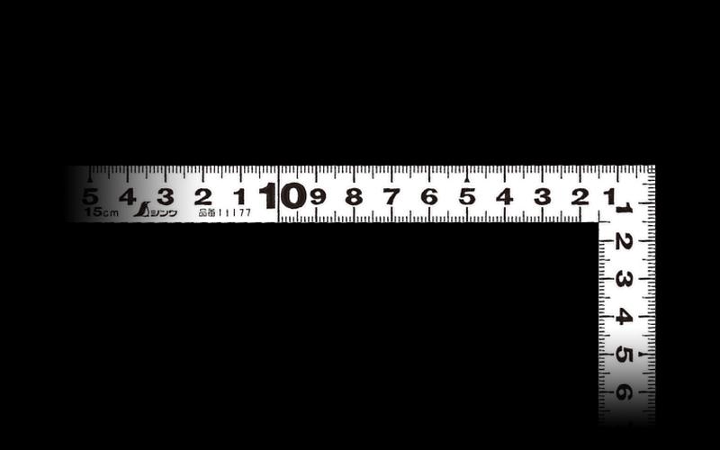 曲尺平ぴた  ホワイト  15�/5寸併用目盛