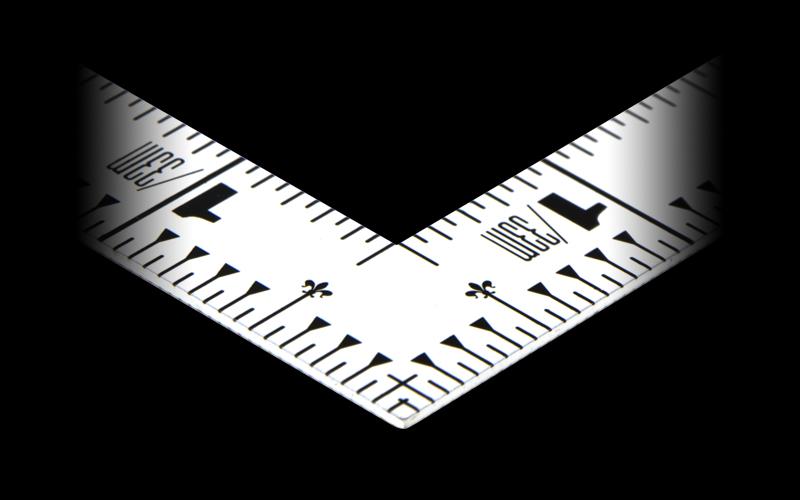 曲尺平ぴた  ホワイト  1尺5寸/50�  併用目盛