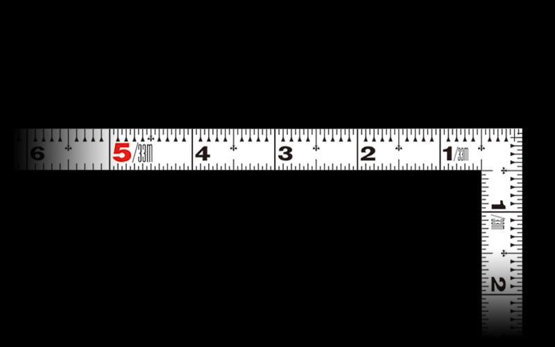 曲尺平ぴた  ホワイト  1尺6寸/50�  併用目盛