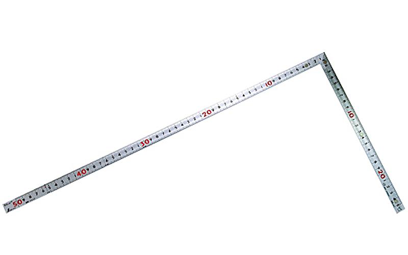 曲尺同厚  シルバー  50�  表裏同目  マグネット付  JIS
