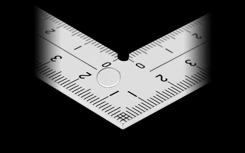 曲尺厚手広巾  シルバー  15�表裏同目8段目盛�表示マグネット付