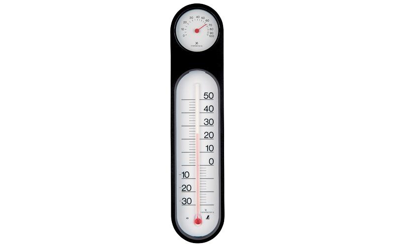 温湿度計  PCオーバル  ブラック